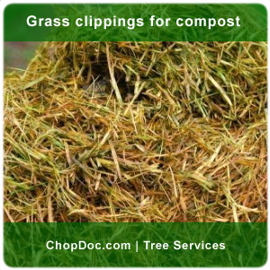 Grass clippings for compost